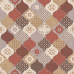 Modern Wallpaper Patterned Tiles Multi Muriva L40405 WP