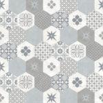 Modern Wallpaper Patchwork Tiles Blue Muriva L40501 WP