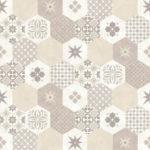 Modern Wallpaper Patchwork Tiles Cream Muriva L40507 WP
