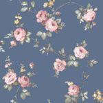 Floral Wallpaper Elena Floral Pink & Blue Muriva 21862