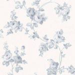 Floral Wallpaper Elena Floral Blue & Cream Muriva 21864