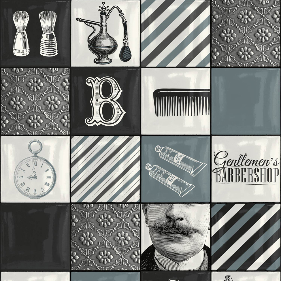 Modern Design Barbershop Multi Muriva 578101