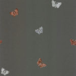 Modern Wallpaper Amelia Butterfly Charcoal & Rose Muriva 701421