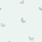 Modern Wallpaper Amelia Butterfly Duck Egg Blue Muriva 701422