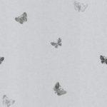 Modern Wallpaper Amelia Butterfly Silver & Gunmetal Muriva 701424