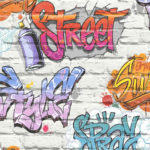 Modern Wallpaper Streetstyle Multi Muriva L17905