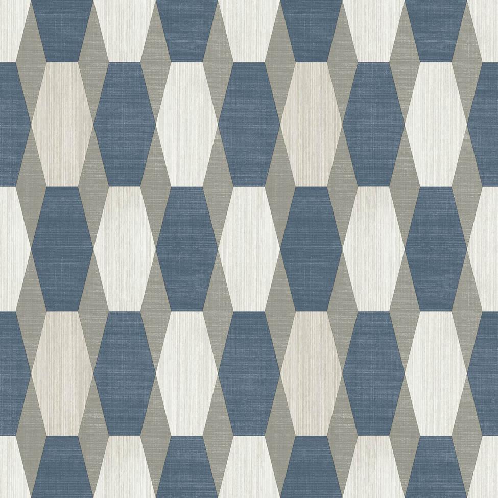 Modern Wallpaper Nerva Geo Blue Muriva L20301