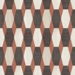 Modern Wallpaper Nerva Geo Red Muriva L20310