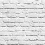 Mural Wallpaper Painted Brick Shiny White Muriva L22609