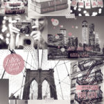 Modern Wallpaper Bright Lights Big City Pink Muriva L31003