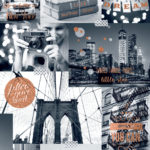 Modern Wallpaper Bright Lights Big City Orange Muriva L31005