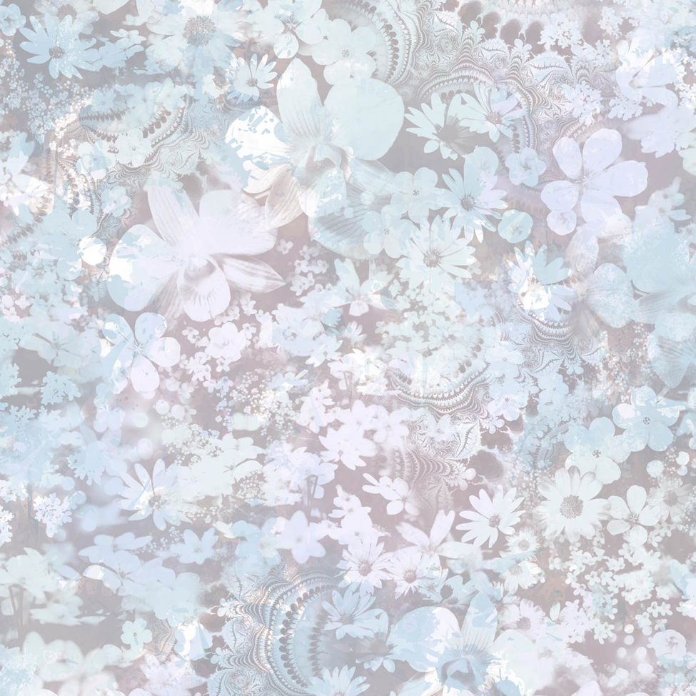 Floral Wallpaper Karina Blue Muriva L39101