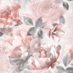floral wallpaper; Lipsy wallpaper; Lipsy; floral; florals; flower; flowers; blossom; blossoms; flower; flowers; flowers in soft colours; shabby chic; glitter; pastel; soft colours; faded background; romantic; bedroom; light grey and red